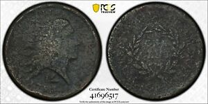 1793 FLOWING HAIR LARGE CENT PCGS GENUINE F DETAIL LETTERED EDGE   08222