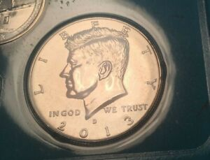 2013 D & P  BU MINT KENNEDY HALF DOLLARS 2 COINS OUT OF MINT SETS