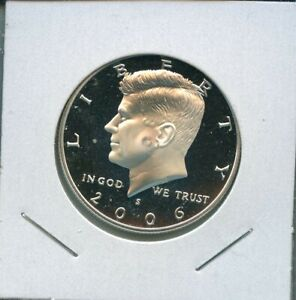 2006 S KENNEDY PROOF 90  SILVER HALF DOLLAR 50C US MINT 10 2006 S PROOF DCAM
