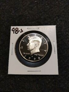 1998 S US PROOF KENNEDY HALF DOLLAR FROM US PROOF SET