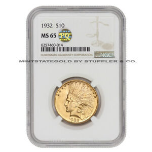 1932 $10 GOLD INDIAN HEAD EAGLE NGC MS65 PQ APPROVED PHILADELPHIA COIN