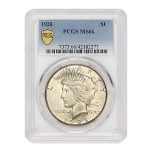 Click now to see the BUY IT NOW Price! HIGH END 1928 $1 SILVER PEACE DOLLAR PCGS MS66 GEM GRADED MINTED COIN LOW POP