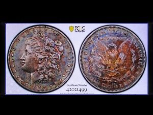 Click now to see the BUY IT NOW Price! 1889 CC MORGAN DOLLAR VF CLEANED ULTRA  VAM 2A DUAL TONED PCGS GS PQ