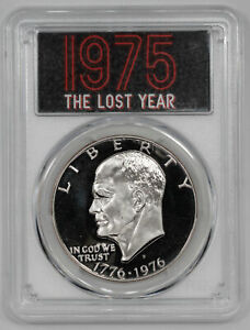 Click now to see the BUY IT NOW Price! 1976 S  1975 LOST YEAR  PROOF EISENHOWER DOLLAR $1 TY1 PCGS PF PR 70 DCAM  123