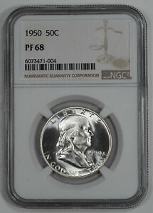 Click now to see the BUY IT NOW Price! 1950 PROOF FRANKLIN HALF DOLLAR 50C NGC CERTIFIED PF 68 PROOF  004