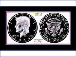 Click now to see the BUY IT NOW Price! 1964 KENNEDY HALF PR68 CAMEO  LOW POP 2 COINS ACCENTED HAIR STR G REV PQ