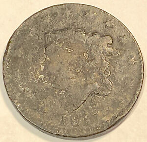 1817 LARGE CENT  NICE LOOKING 2