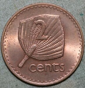 FIJI 1969   TWO CENT COIN  ELIZABETH II    91 TRACKED SHIPPING