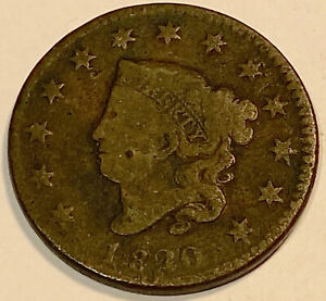 1820 LARGE CENT  NICE LOOKING FINE LARGE DATE 2