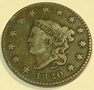 1820 LARGE CENT  NICE LOOKING FINE SMALL DATE 3