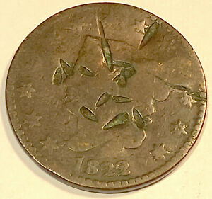 1822 LARGE CENT  NICE LOOKING  1