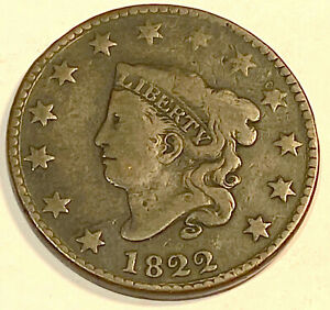1822 LARGE CENT  NICE LOOKING FINE 3