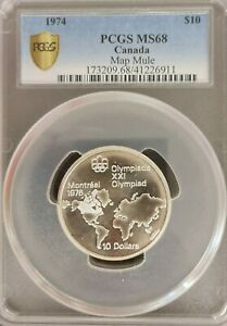 Click now to see the BUY IT NOW Price! CANADA 1974 10 DOLLARS OLYMPIC ERROR MULE  PCGS 68