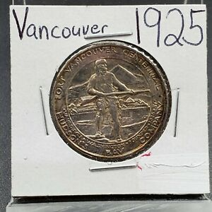 1925 FORT FT VANCOUVER COMMEMORATIVE HALF DOLLAR SILVER COIN BU UNC SOME TONING