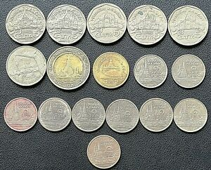 LOT OF 17X THAILAND COLLECTIBLE COINS   VARIOUS DATES & DENOMINATIONS