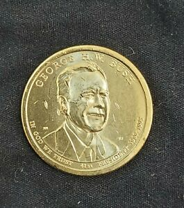 2020 P GEORGE H.W. BUSH PRESIDENTIAL ONE DOLLAR COIN FROM U.S. MINT
