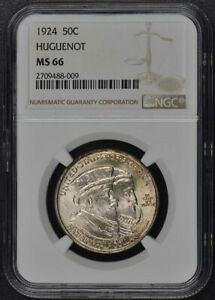 Click now to see the BUY IT NOW Price! HUGUENOT 1924 SILVER COMMEMORATIVE 50C NGC MS66