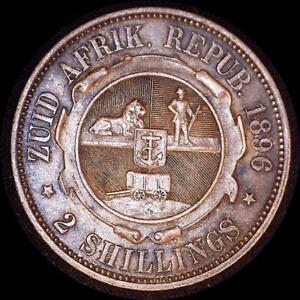 Click now to see the BUY IT NOW Price! SOUTH AFRICA 1896 2 SHILLINGS OLD WORLD SILVER COIN HIGH GRADE NICE TONING