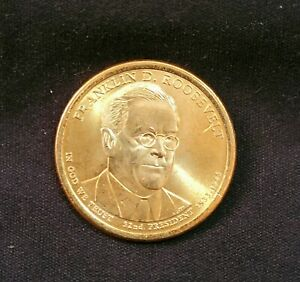 2014 P FRANKLIN D ROOSEVELT PRESIDENTIAL ONE DOLLAR COIN FROM U.S. MINT