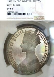 Click now to see the BUY IT NOW Price! GREAT BRITAIN 1847 GOTHIC CROWN  LY  NGC PF65  BEAUTIFUL COIN