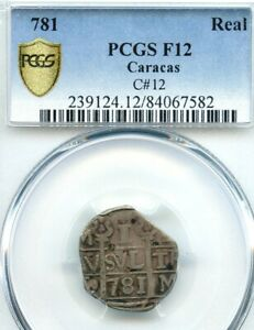 Click now to see the BUY IT NOW Price! VENEZUELA 781  1817 ; SILVER 1 REAL  CHIPI CHIPI ; CARACAS; C12; PCGS F12