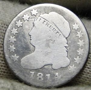 1814 CAPPED BUST DIME 10 CENTS   NICE COIN    5909