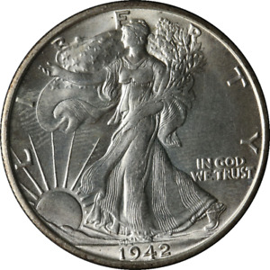 1942 S WALKING LIBERTY HALF GREAT DEALS FROM THE EXECUTIVE COIN COMPANY