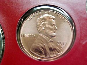 2017 D LINCOLN SHIELD PENNY   FROM US MINT SET