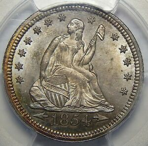 Click now to see the BUY IT NOW Price! 1854 ARROWS PCGS MS66 SEATED LIBERTY QUARTER