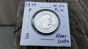 1979 P WIDE RIM NEAR DATE SUSAN B. ANTHONY DOLLAR AWESOME VARIETY.