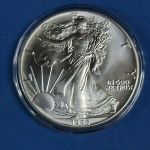 STUNNING 1986 .999 SILVER EAGLE IN AIR TIGHT