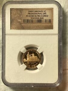 Click now to see the BUY IT NOW Price! 2009 S BRONZE PROFESSIONAL PENNY  PF RED ULTRA CAMEO FINISH GRADED BY NGC  NU
