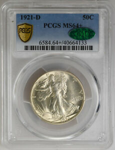 Click now to see the BUY IT NOW Price! 1921 D 50C WALKING LIBERTY HALF DOLLAR MS64  PCGS CAC BLAZING  COIN