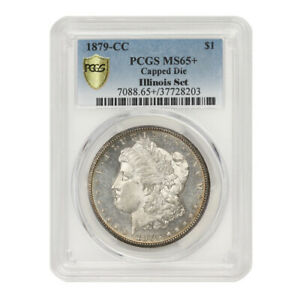 Click now to see the BUY IT NOW Price! 1879 CC $1 SILVER MORGAN PCGS MS65  CAPPED DIE ILLINOIS SET CARSON CITY DOLLAR