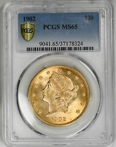 Click now to see the BUY IT NOW Price! 1902 LIBERTY HEAD $20 TYPE 3 MOTTO PCGS MS65 TOP POP  GOLD COIN  COIN