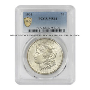Click now to see the BUY IT NOW Price! 1901 $1 SILVER MORGAN DOLLAR PCGS MS64 LOW POPULATION PHILADELPHIA COIN