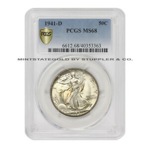 Click now to see the BUY IT NOW Price!  1941 D 50C SILVER WALKING LIBERTY PCGS MS68 GEM DENVER MINT HALF DOLLAR
