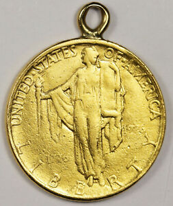 1926 SESQUICENTENNIAL 2.50 COMMEMORATIVE.  GOLD.  PENDANT READY TO WEAR.  163960