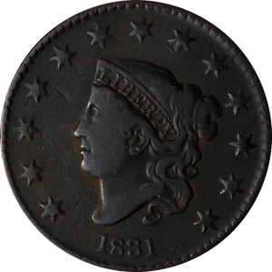 1831 LARGE CENT GREAT DEALS FROM THE EXECUTIVE COIN COMPANY