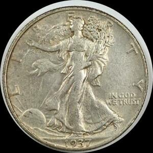 Click now to see the BUY IT NOW Price! USA 1937 WALKING LIBERTY 50 CENT SILVER COIN HIGH GRADE