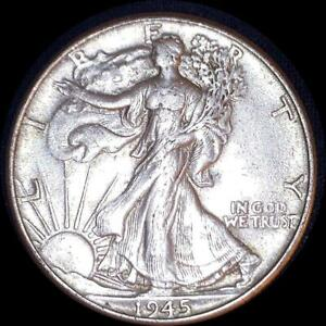 Click now to see the BUY IT NOW Price! USA 1945 WALKING LIBERTY 50 CENT SILVER COIN HIGH GRADE