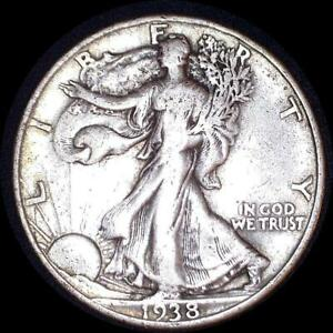 Click now to see the BUY IT NOW Price! USA 1938 WALKING LIBERTY 50 CENT SILVER COIN