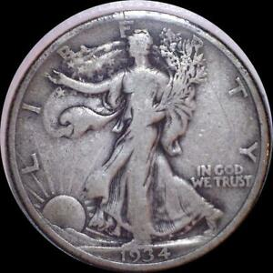 Click now to see the BUY IT NOW Price! USA 1934 WALKING LIBERTY 50 CENT SILVER COIN