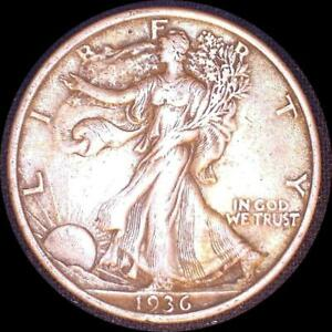 Click now to see the BUY IT NOW Price! USA 1936 WALKING LIBERTY 50 CENT SILVER COIN HIGH GRADE