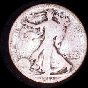 Click now to see the BUY IT NOW Price! USA 1917 D WALKING LIBERTY 50 CENT SILVER COIN