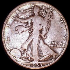 Click now to see the BUY IT NOW Price! USA 1935 S WALKING LIBERTY 50 CENT SILVER COIN