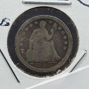 1853 LIBERTY SEATED HALF DIME SILVER COIN WITH ARROWS VARIETY AG ABOUT GOOD