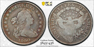 1800 $1 DRAPED BUST DOLLAR PCGS VG 8 GOOD EARLY US TYPE COIN