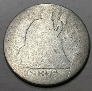 1876 CC??   LIBERTY SEATED DIME   KEY DATE COIN