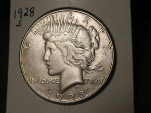 1928 S PEACE DOLLAR BETTER DATE NICE COMBINED SHIPPING